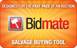 Bidmate Salvage Buying Tool: Designed for the Fast pace of an Auction!