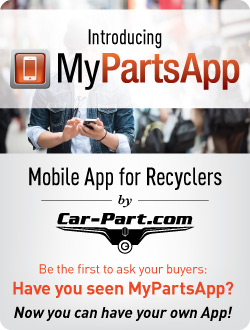 Introducing MyPartsApp, Mobile App for Recyclers by Car-Part.com